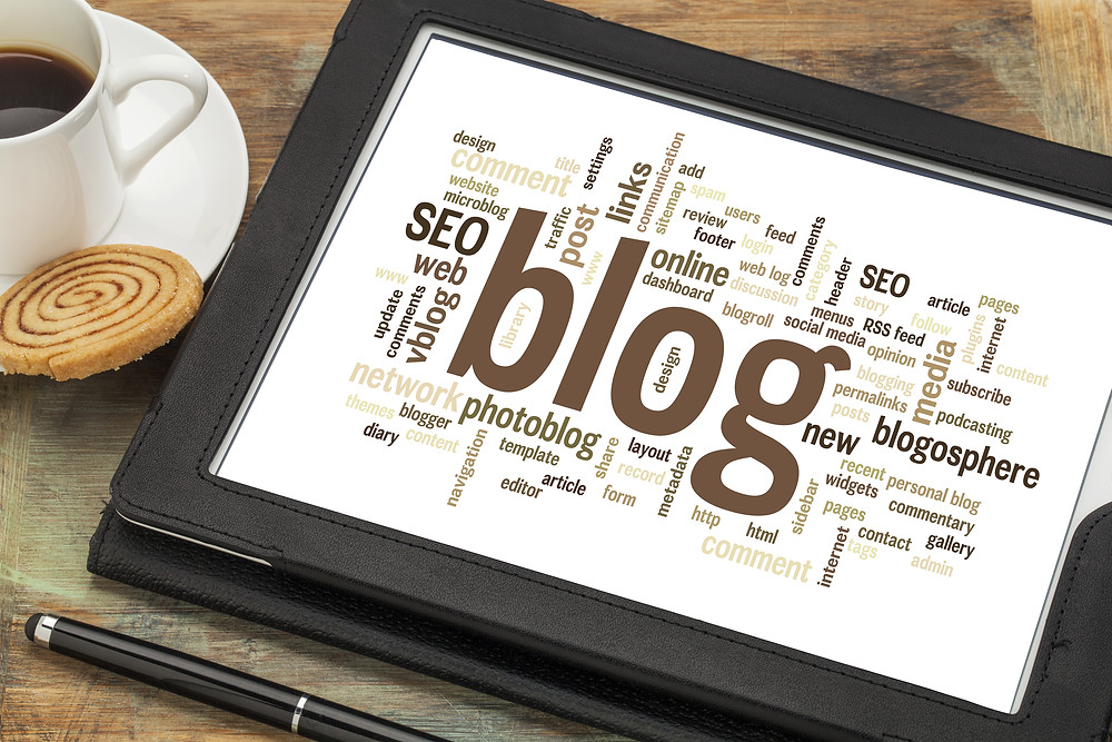 SEO and Blogs on tablet