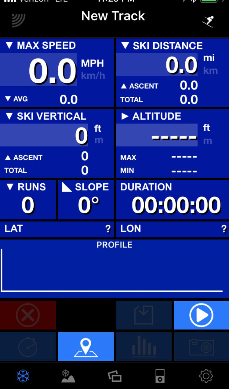 Main Tracking Screen