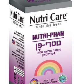 """חדש ב- :Nutri Care   תוסף תזונה """"נוטרי-פן"""" – כמוסות חומצת אמינו חיונית - L-טריפטופן"""