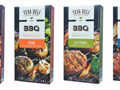 """חברת """"טבע דלי""""  חידשה ליום העצמאות את סדרת הבורגרים מהצומח - BBQ  לצלייה על האש – במתכונים"""