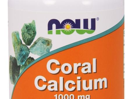 """חברת תוספי התזונה """"NOW"""" מציגה:  """"סידן אלמוגים"""" – CORAL CALCUME – סידן בעל יכולת"""