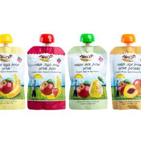 """""""תבואות"""" משיקה סדרה של מחיות פרי (סמוזי) 100% אורגניות וטעימות, ללא כל תוספות."""
