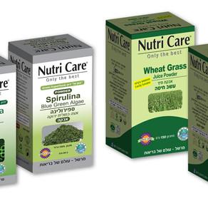 """Nutri Care מציגה את """"הסדרה הירוקה"""" - סדרת תוספי תזונה המבוססים על מזונות-על ירוקים, עשירים"""