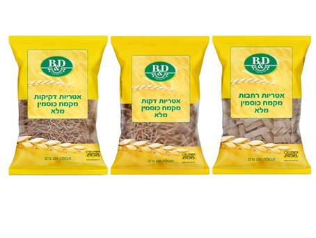 חברת B&D משיקה סדרת אטריות מקמח כוסמין 100% מלא