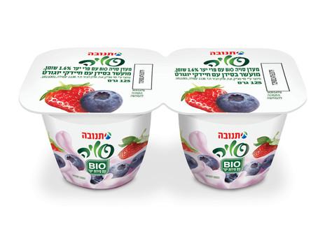 תנובה משיקה שני טעמים חדשים: סויה  BIO עם פירות יער ומעדן סויה וניל