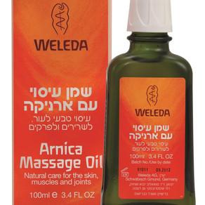 מותג הטיפוח WELEDA משיק: שמן עיסוי ארניקה -  לעיסוי וגמישות העור, השרירים והמפרקים