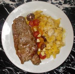 Sirloin steak & saccettini (Su1271)