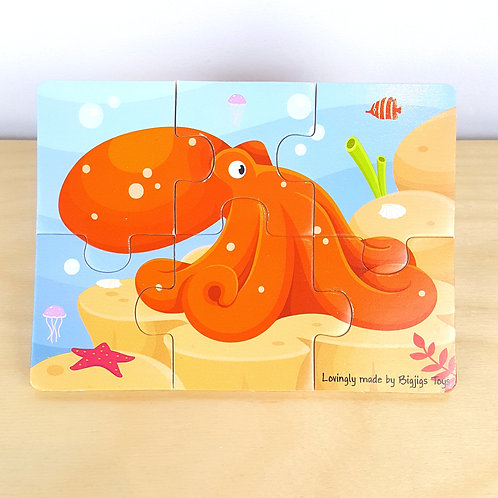 6 Piece Octopus Jigsaw (30m+)