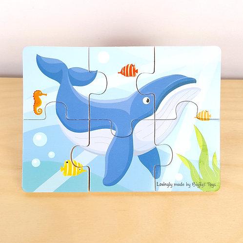 6 Piece Whale Jigsaw (30m+)
