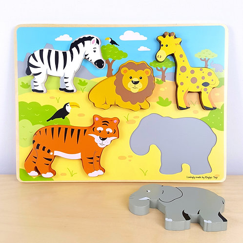 Chunky African Animals Puzzle (18m+)