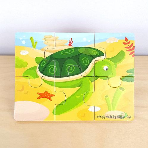 6 Piece Sea Turtle Jigsaw (30m+)