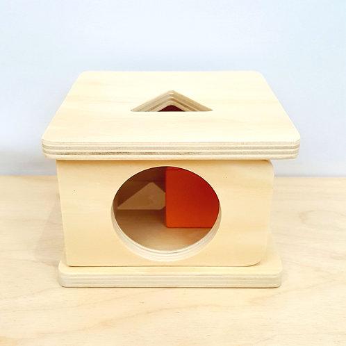 Montessori Imbucare Box with Triangular Prism (12-15m)