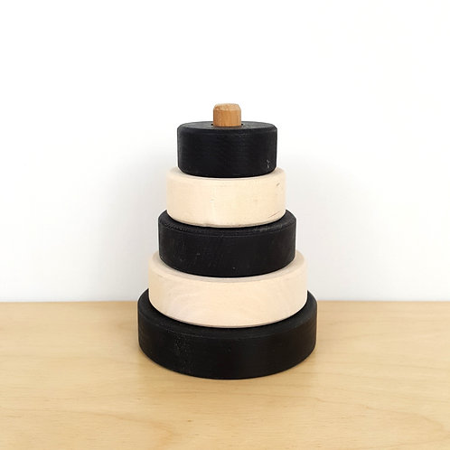 Black and White Ring Stacker (15-18m)