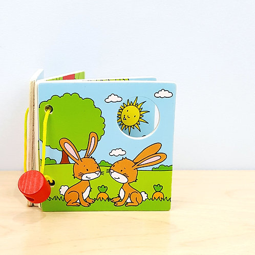 Wooden Forest Animals Picture Book (6m+)
