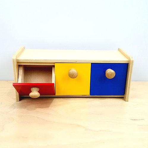 Montessori Box with 3 Bins (15m+)