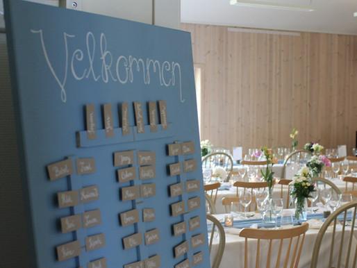 DIY Placeringstavla till bröllopet