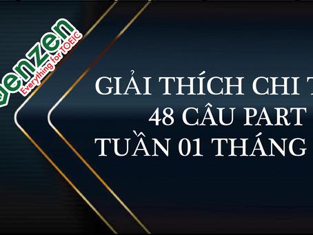 ĐÁP ÁN CHI TIẾT 48 CÂU PART 7 TOEIC - TUẦN 01 THÁNG 5