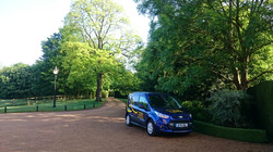 Our van at a garden we maintain
