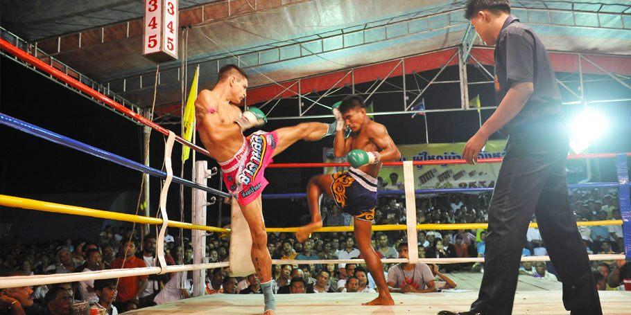 Thai boxing kick