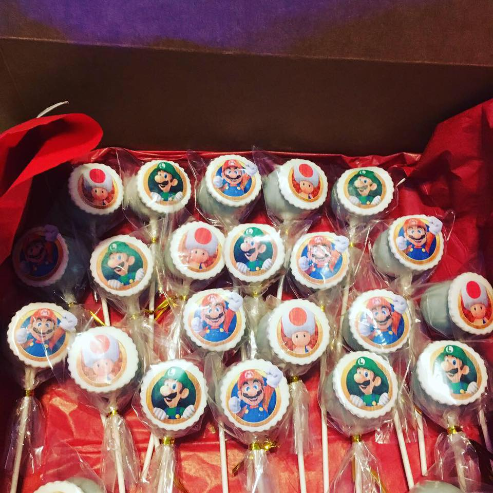 Super Mario Birthday Cake Pops