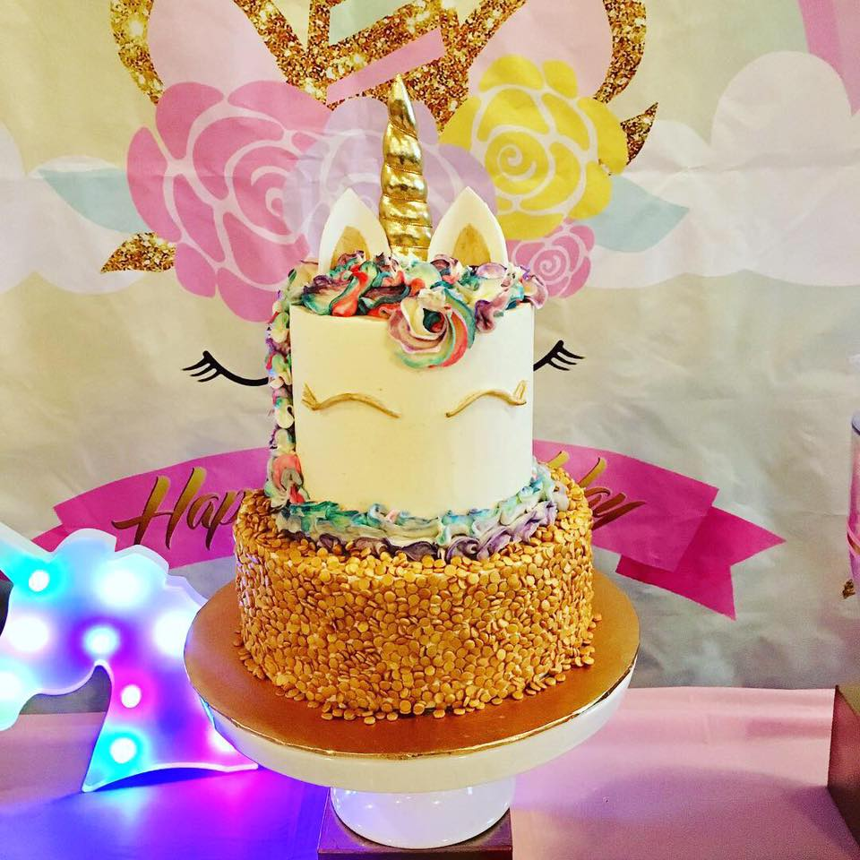 Unicorn First Birthday Cake
