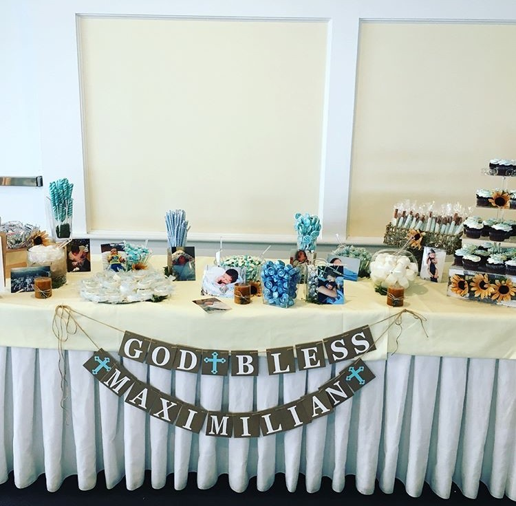 Christening Candy Table
