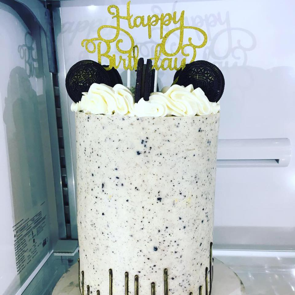Double Barrel Oreo Cake