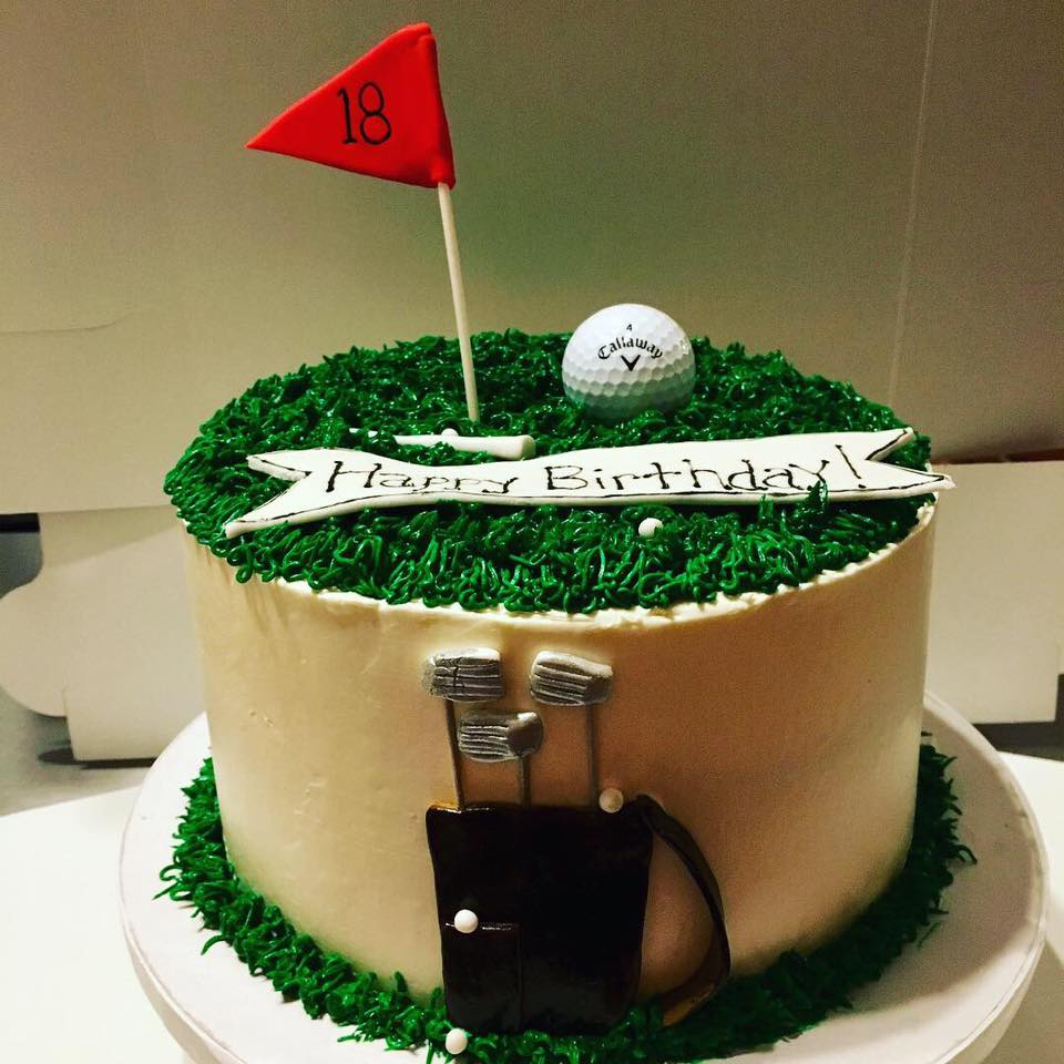 Golf Enthusiast Birthday Cake