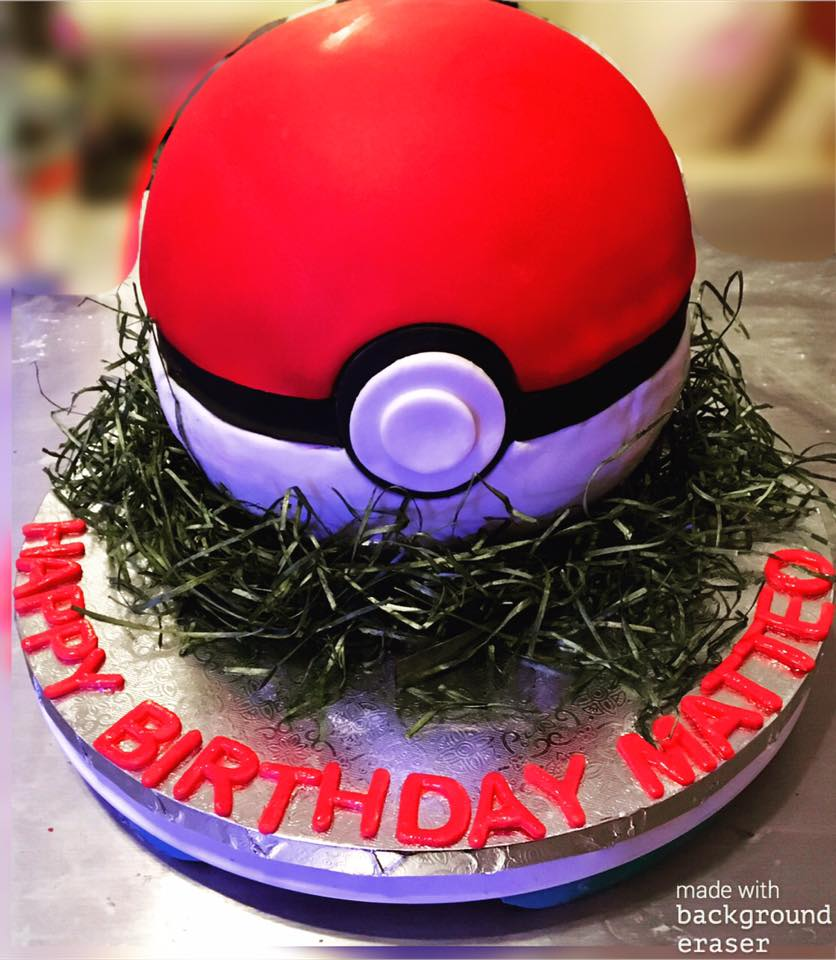 Pokeball Birthday  Cake