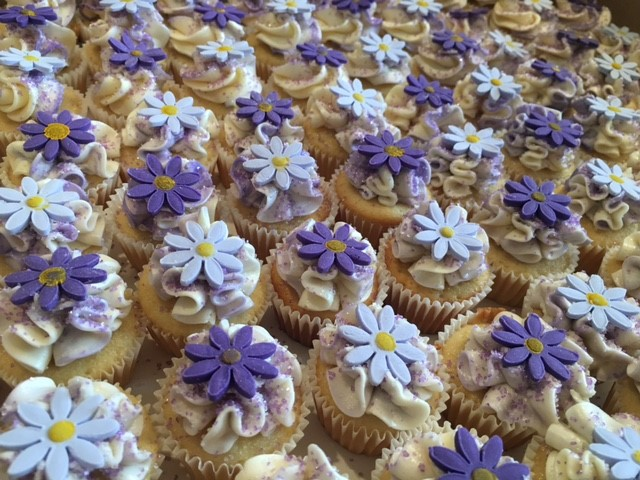 Lavender and Lilac mini cupcakes