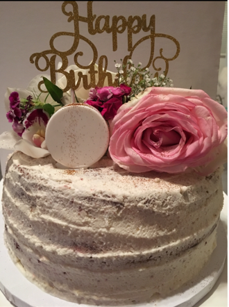Buttercream Semi Naked Floral Cake