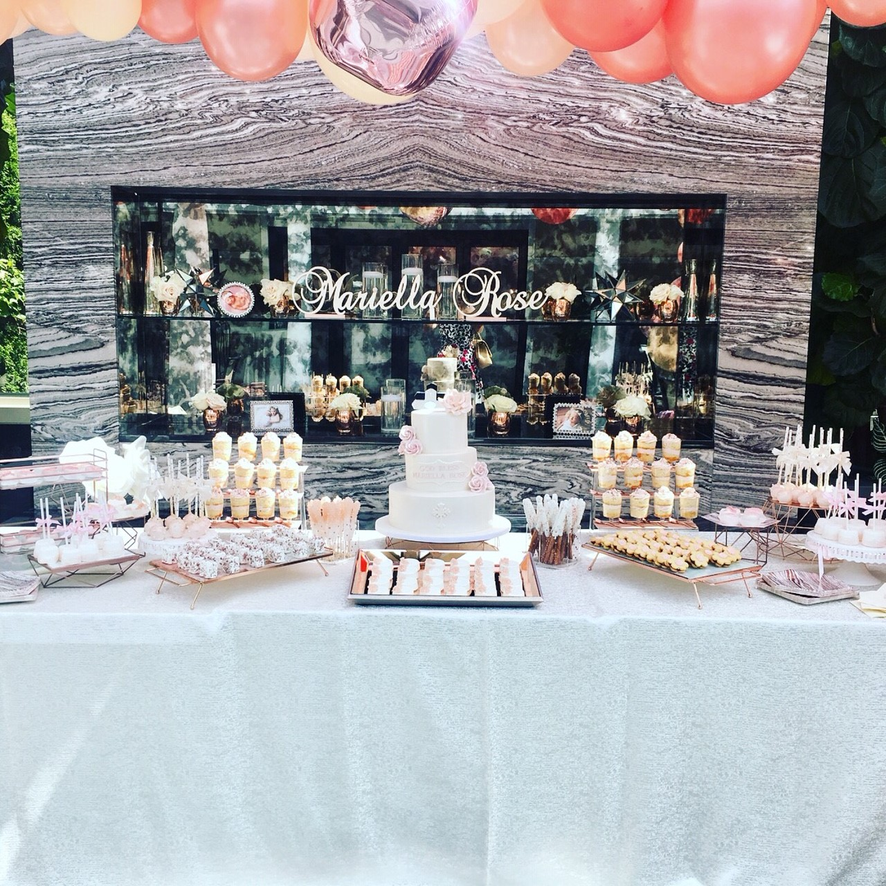 Christening Treat Table