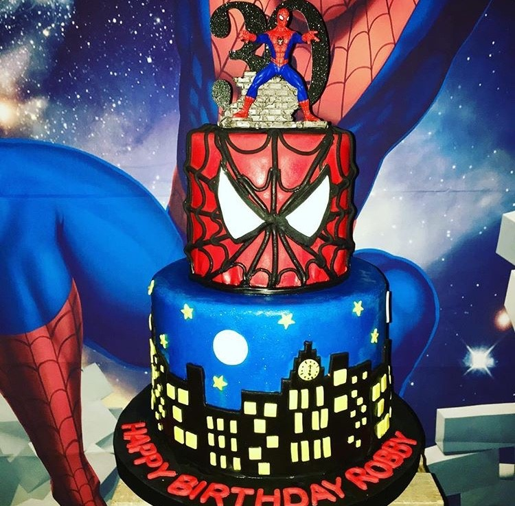 Spiderman 30th Birthday Cake