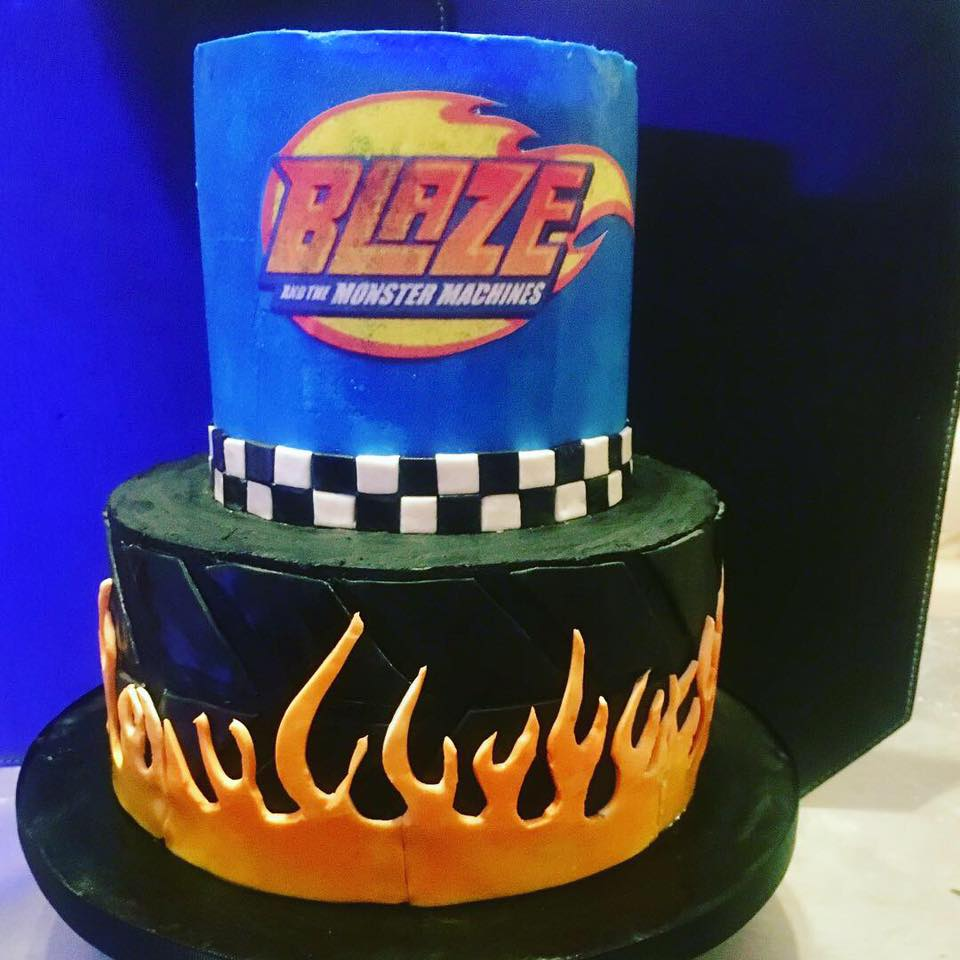 Blaze and the Machine Birthday Cake