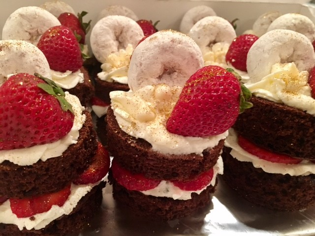 Chocolate and Strawberry Mini Stacks
