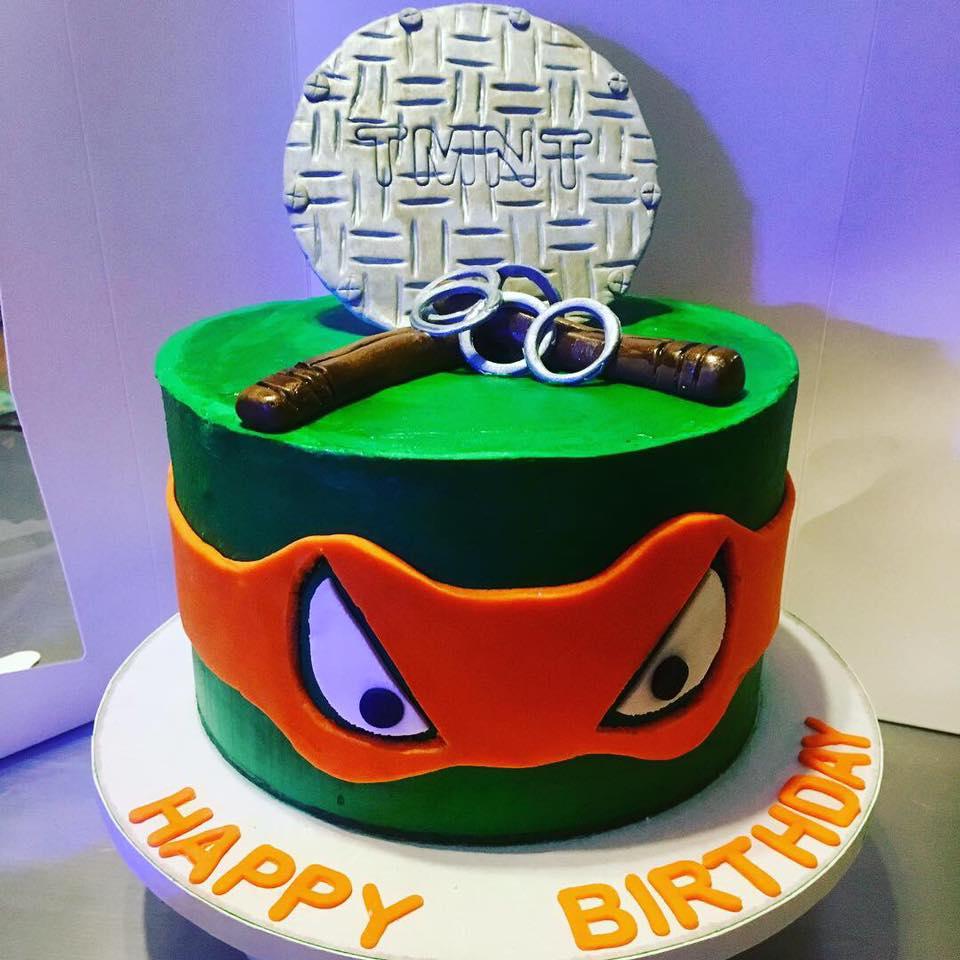 Ninja Turtle Michelangelo Cake