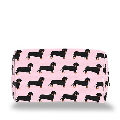 Pink Dachshund Make up Bag