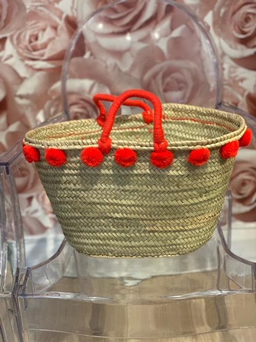 Amaryllis Pom Pom Beach Bag