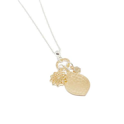 Millie Pendant Charm Necklace - Gold