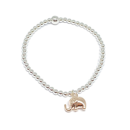 Daisy Elephant Bracelet - Rose Gold