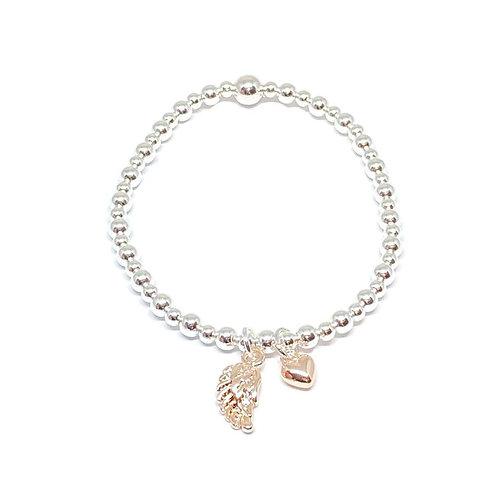 copy of Sophia Angel Wing Charm Bracelet - Rose Gold