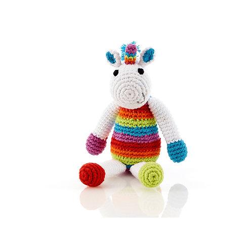 Rainbow unicorn rattle – small