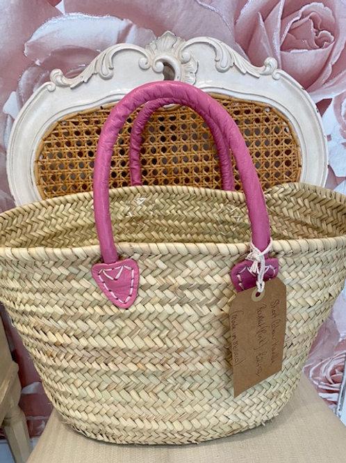 Pink Colour Handle Basket
