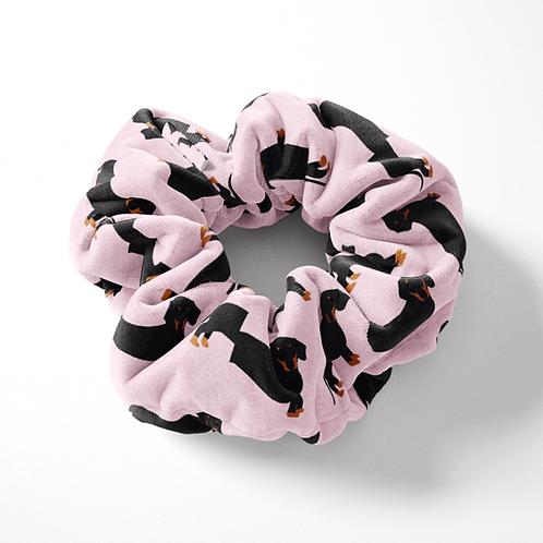 Pink Dachshund Scrunchie