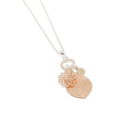Millie Pendant Charm Necklace - Rose Gold