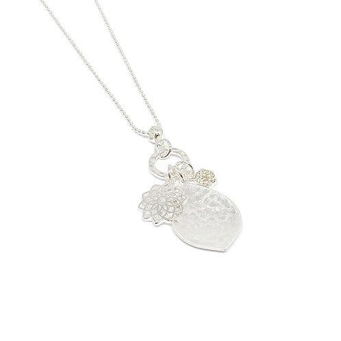 Millie Pendant Charm Necklace - Silver