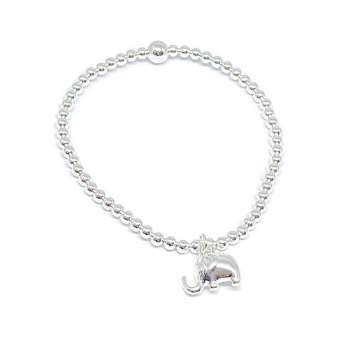 Daisy Elephant Bracelet - Silver