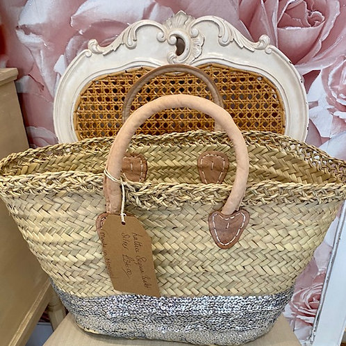 Lattice Sequin Basket