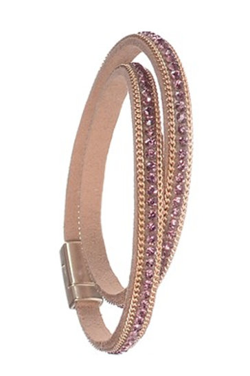 Single Row Dble Wrap Classic - Lilac Rose/Gold