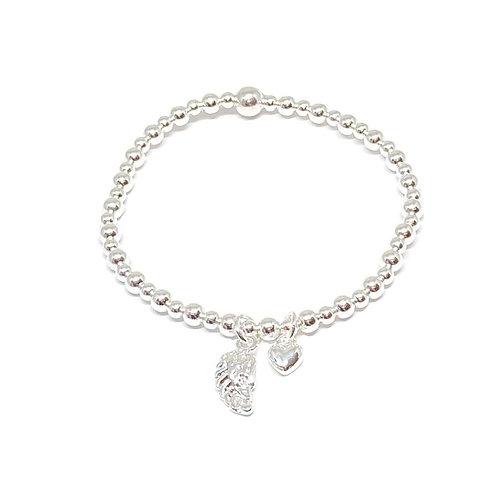 Sophia Angel Wing Bracelet - Silver